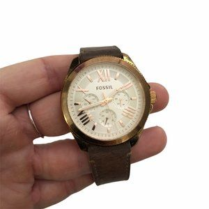 FOSSIL Women's Brown Leather Strap Watch